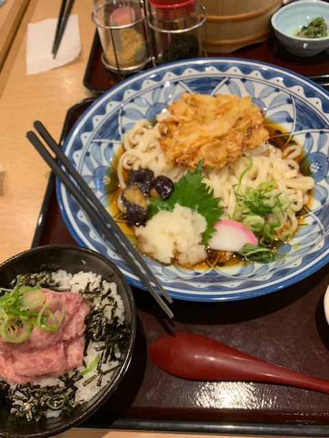 おろし天ぷらうどんと選べるごはん