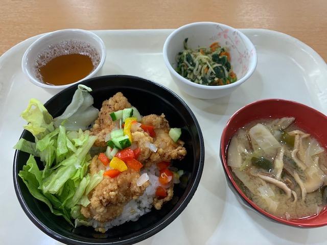 唐揚げ 野菜 さっぱり 丼 セット