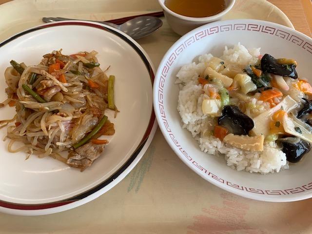 中華飯と野菜炒め