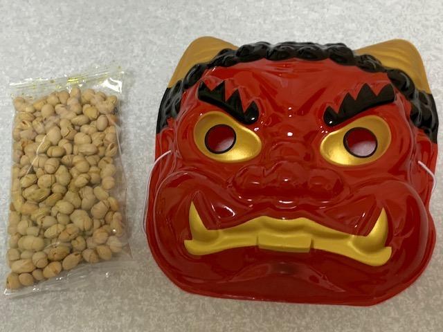 豆と鬼の面