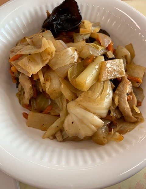 鶏肉と野菜のカシューナッツ黒胡椒炒め