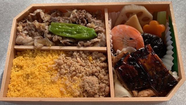松坂牛めしと味噌焼き鯖寿司