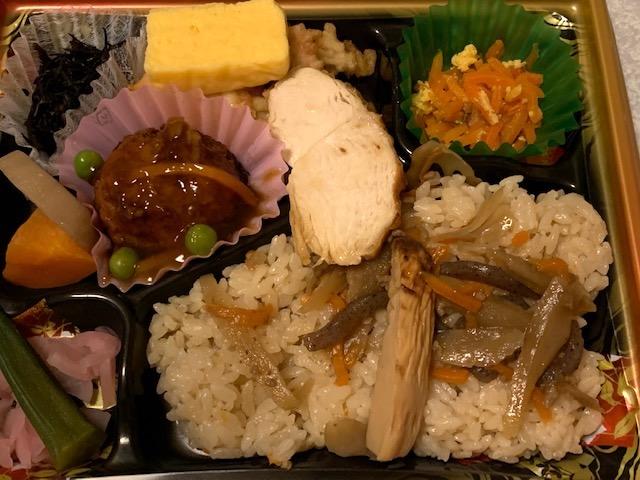 焼き竹の子と鶏ごぼうご飯弁当