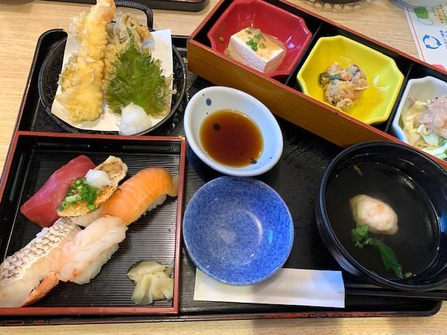 食べ比べ五貫寿司のにぎわい御膳