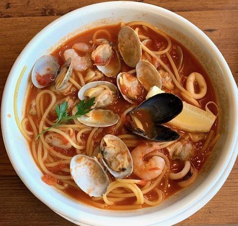 辛口トマトスープパスタ